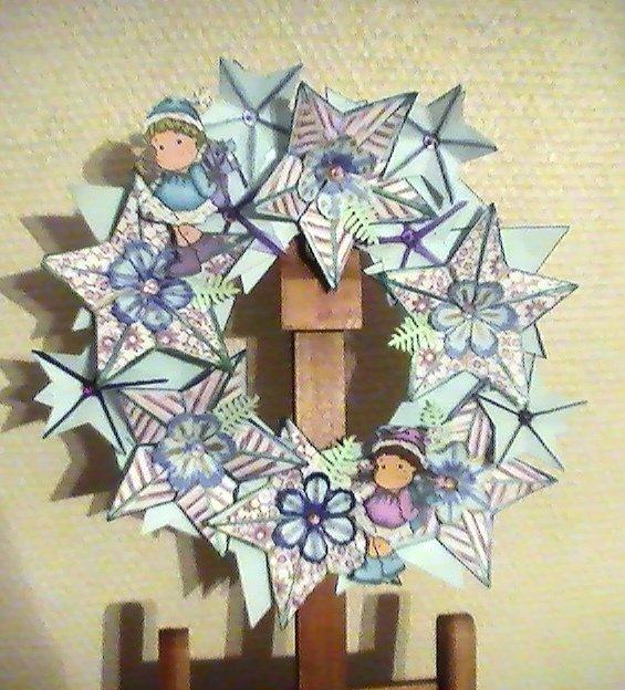 couronne de star dans combo couronne-avent-bleue